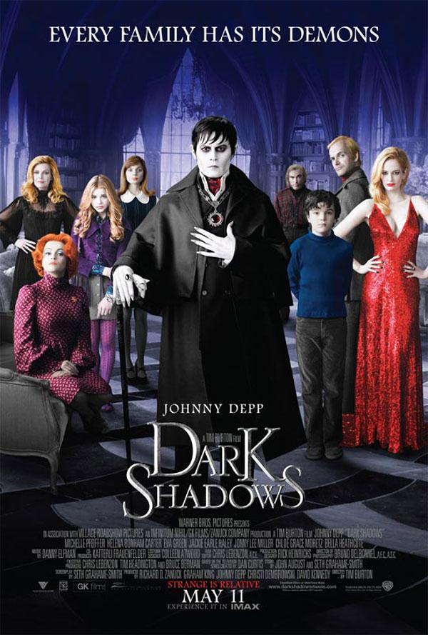 Dark Shadows Cartel de la película de Tim Burton