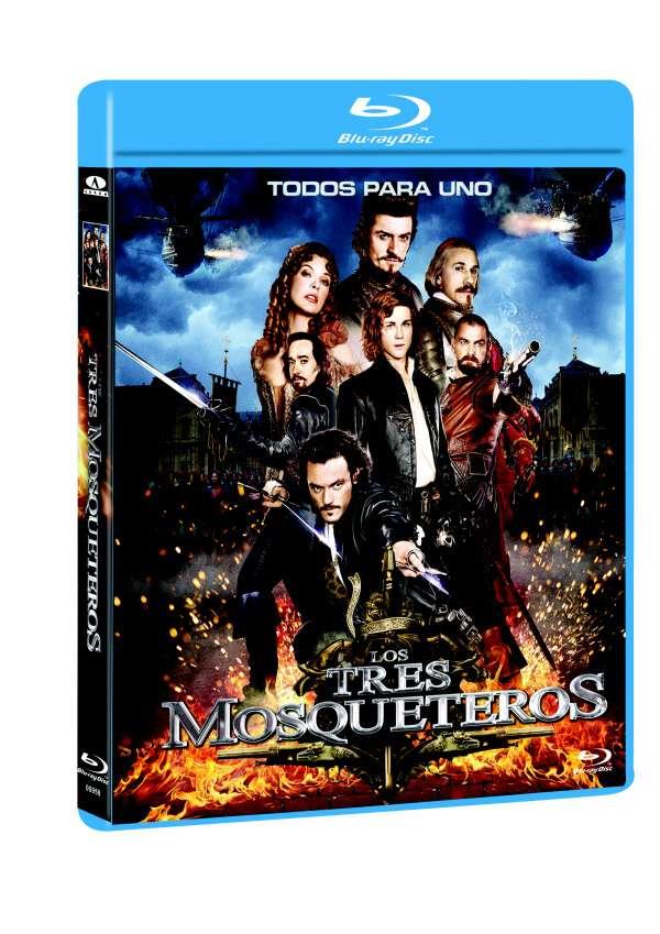 """Carátula  BLU-RAY  """"Los tres Mosqueteros"""""""