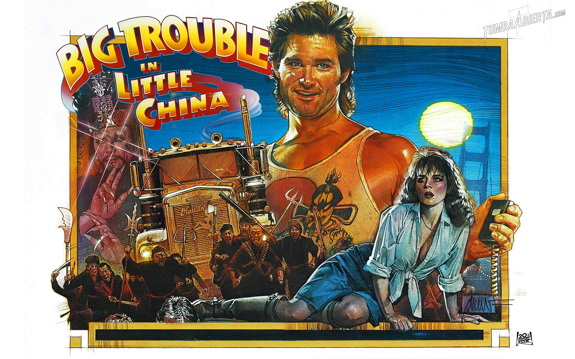Wallpaper. Golpe en la pequeña China (big trouble in little China) de John Carpenter