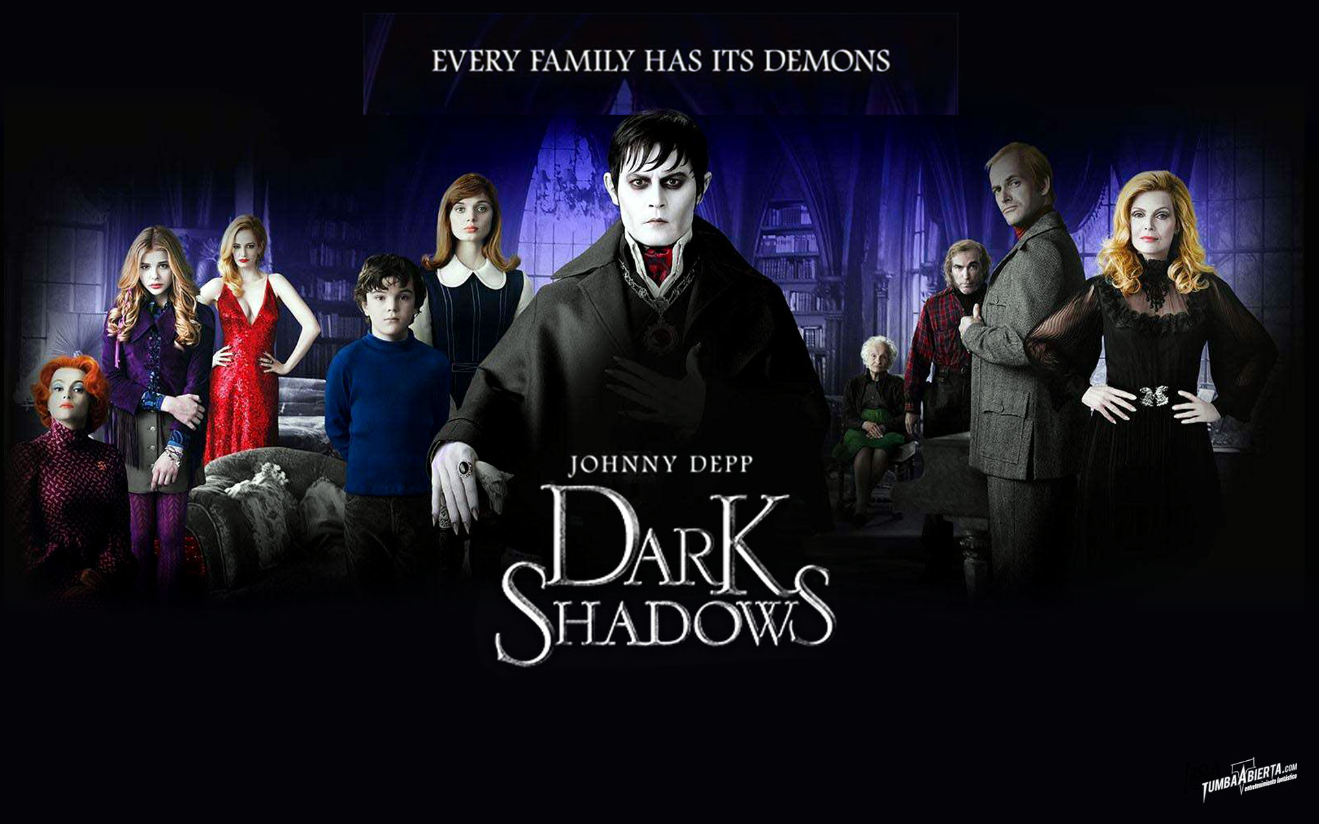 "Wallpaper HD ""Dark Shadows"". La nueva película de Tim Burton"