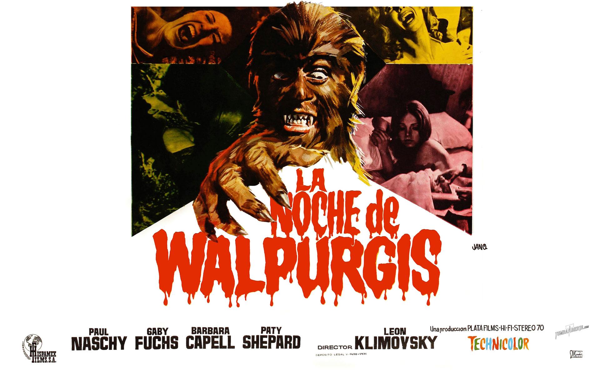 Wallpaper La noche de Walpurgis The Werewolf Vs.Vampire woman) con Paul Naschy
