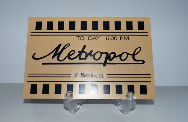 Feakland. Réplica Metropol Ticket. Demons de Lamberto Bava