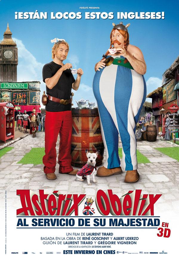 Asterix al servicio de su majestad. Cartel español