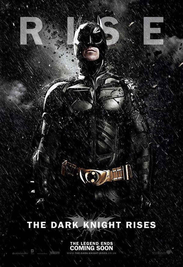 The Dark Knight Rises. Cartel banner Batman