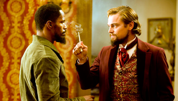 Jamie Joxx y Leonardo DiCaprio en Django Desencadenado