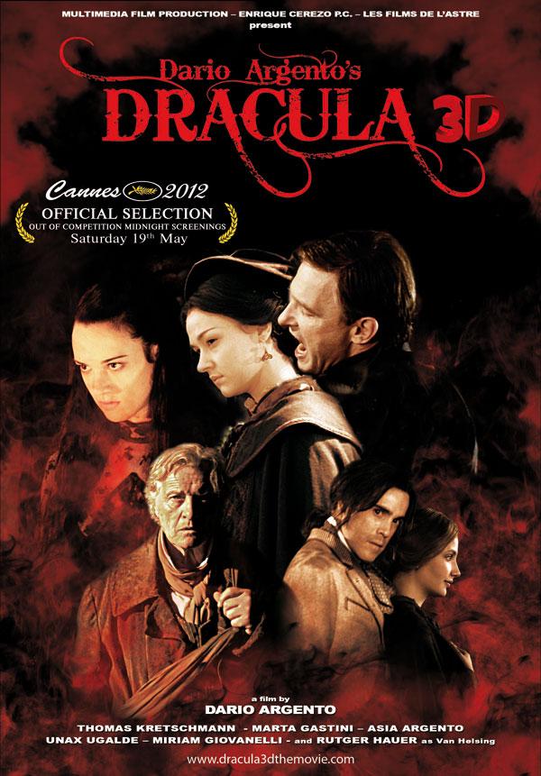 Dracula 3d de Dario Argento. Cartel Cannes
