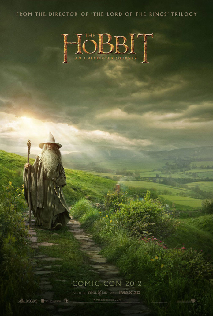 cartel El Hobbit. Comic Con 2012