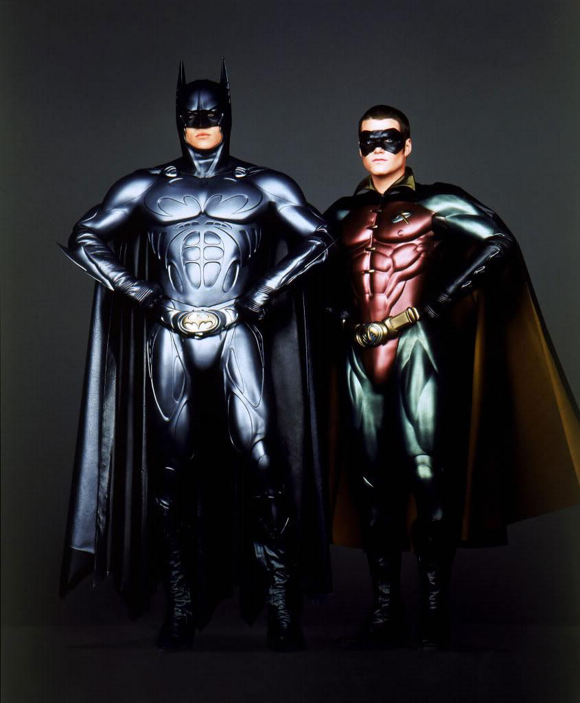 """Val Kilmer y Chris con el trajer """"Sonar"""" en """"Batman Forever"""""""