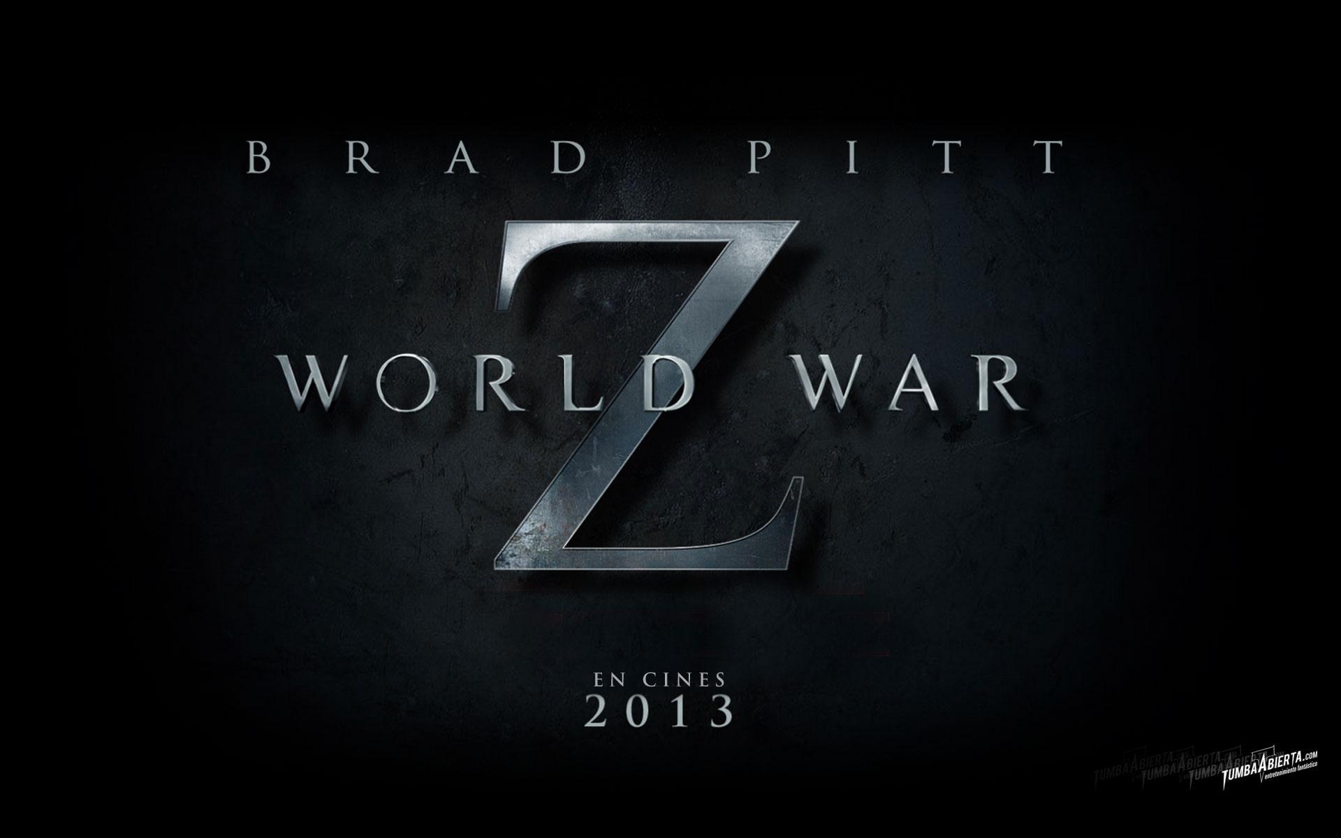 Wallpaper World War Z HD. Guerra mundial Z con Brad Pitt