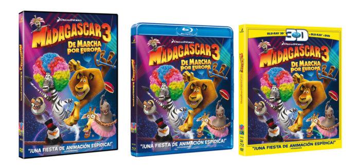 Madagascar 3. Caratulas DVD y Blu-Ray