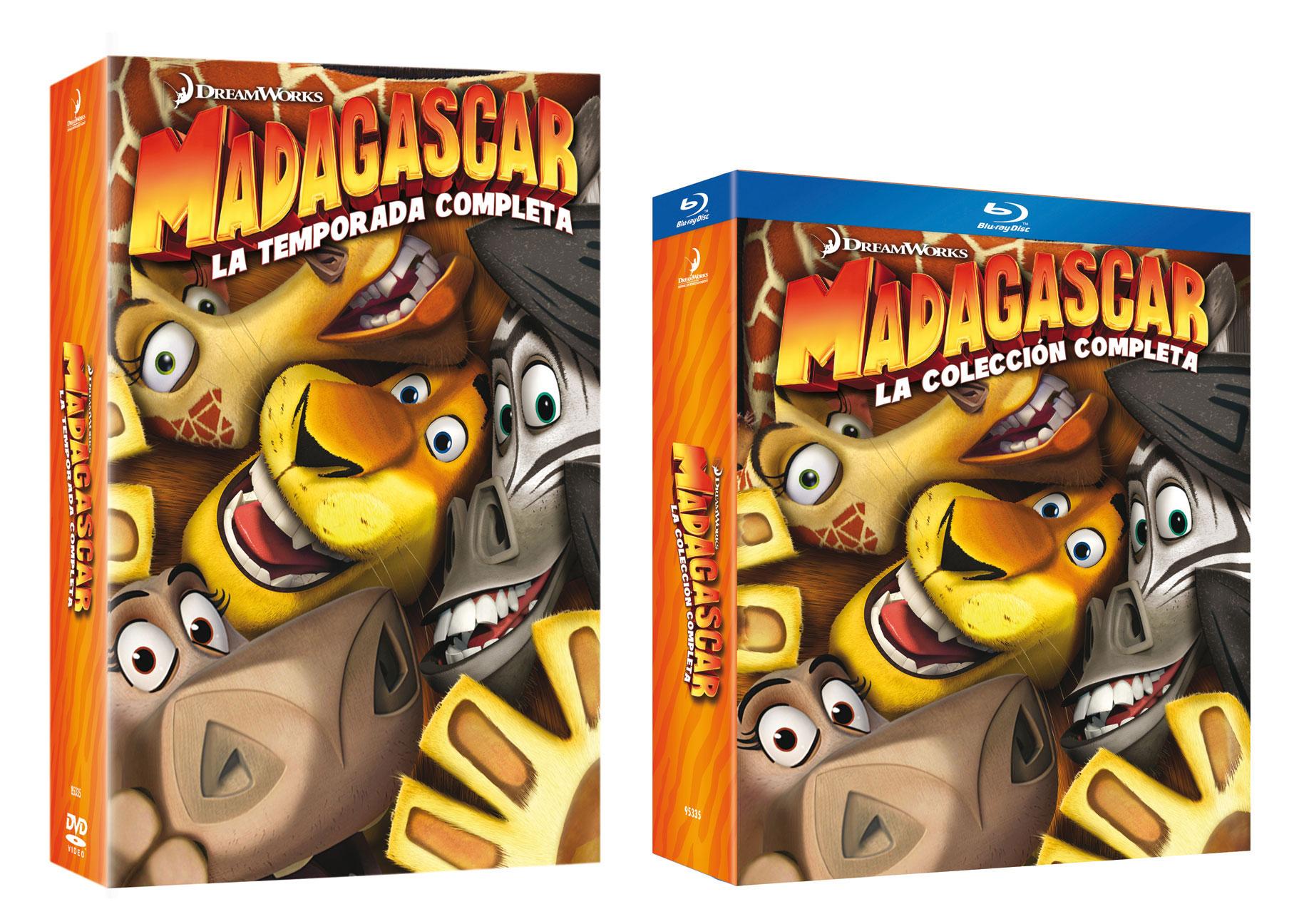 Madagascar. La colección completa en DVD y Blu-Ray