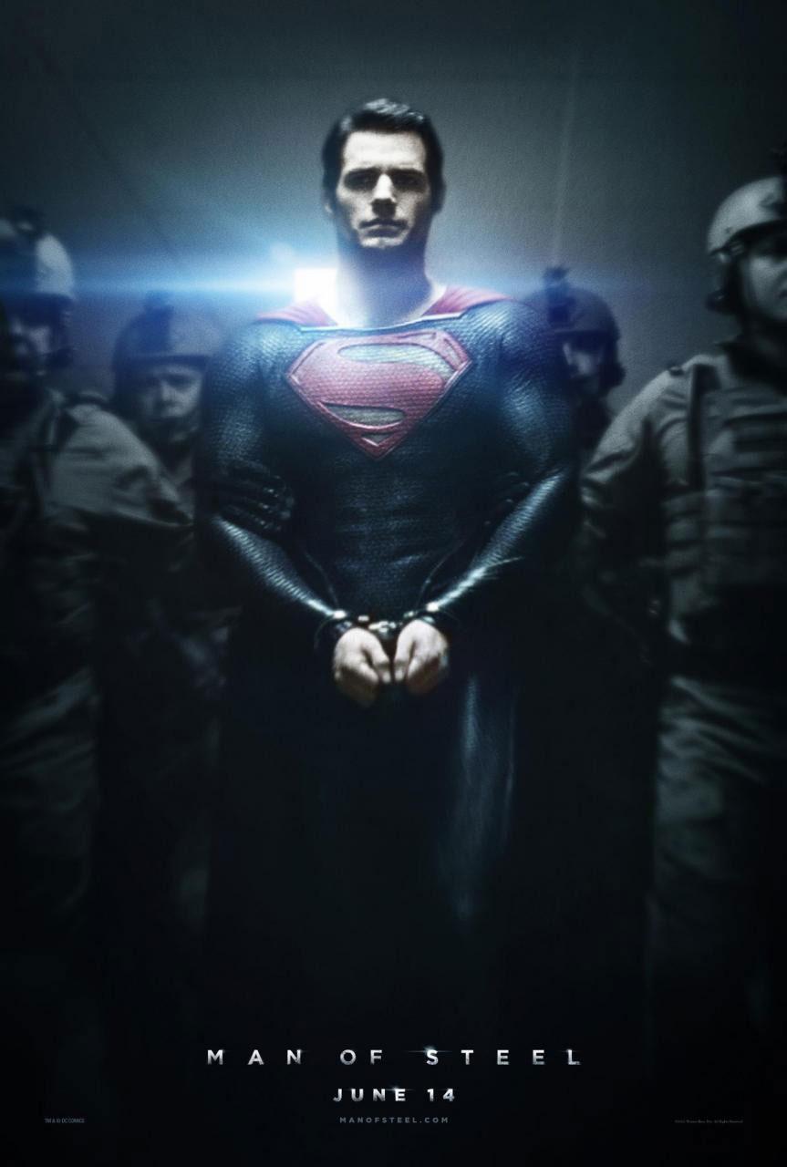 cartel Man of Steel. Superman El hombre de acero