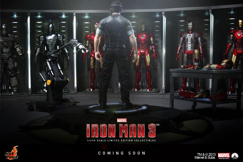Hot Toys Iron Man 3. Tony Stark in Workshop