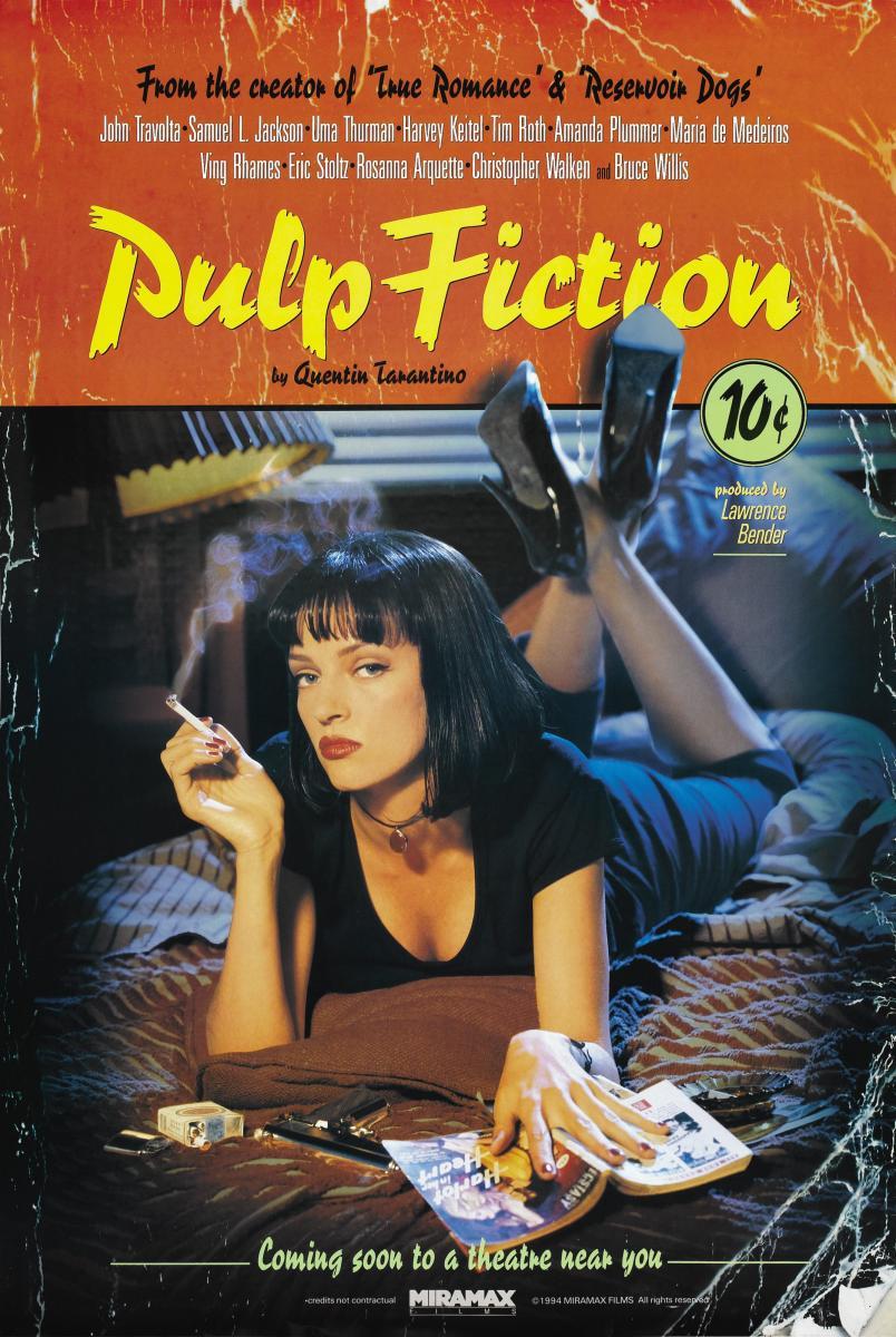 Cartel Pulp Fiction de Quentin Tarantino