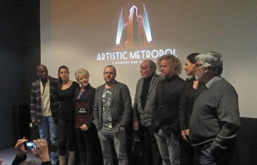 El equipo de Wax en la entrega de butacas de honor en Artistic Metropol