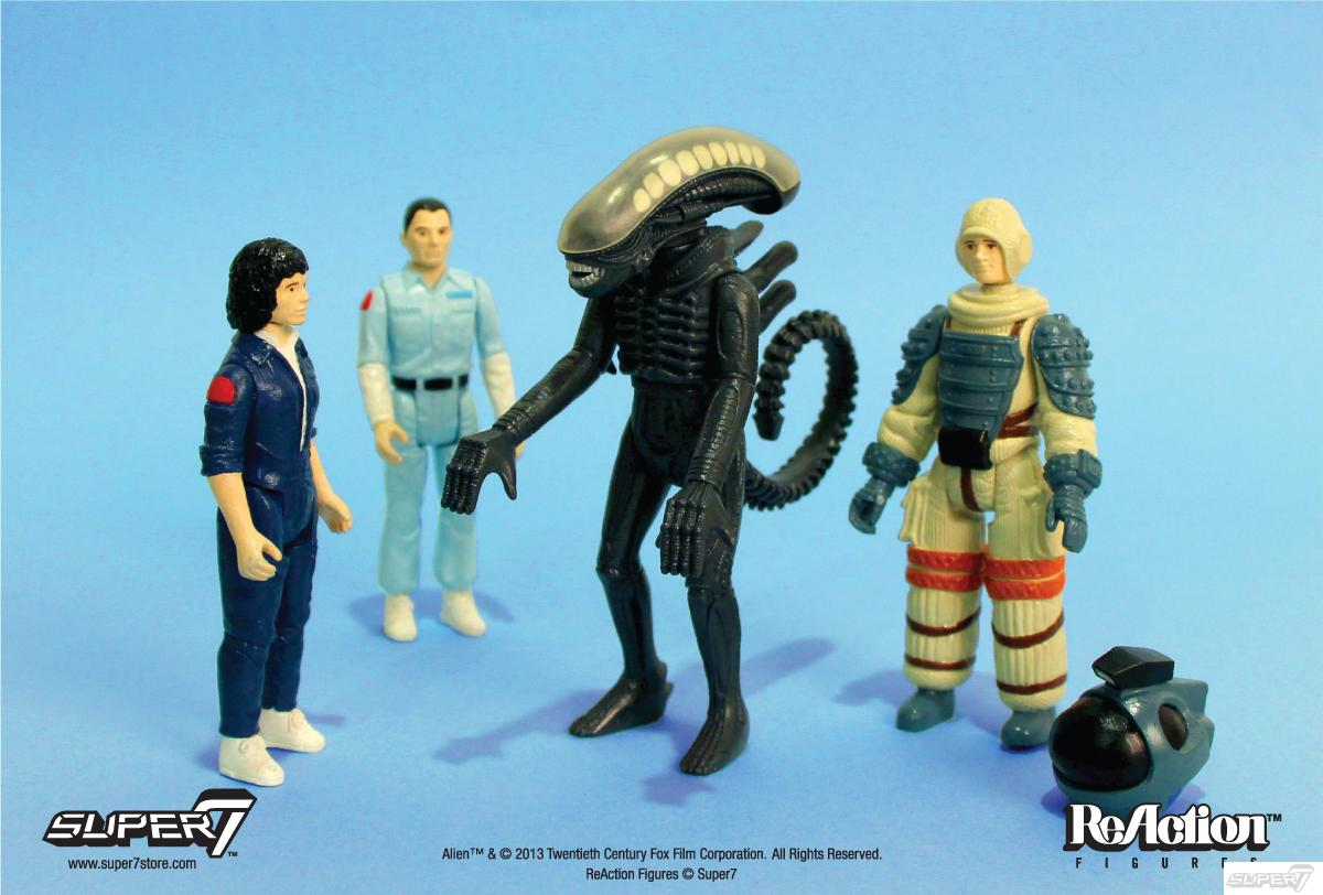 Alien Reaction figuras serie 1