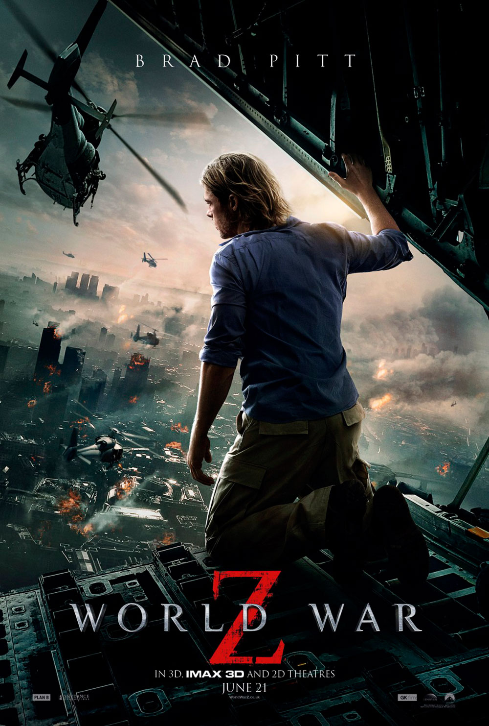 World War Z poster con Brad Pitt