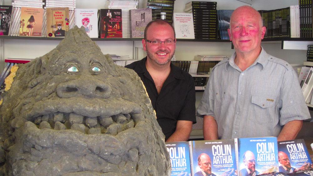 Colin Arthur y Víctor Matellano en la Feria del Libro de Madrid