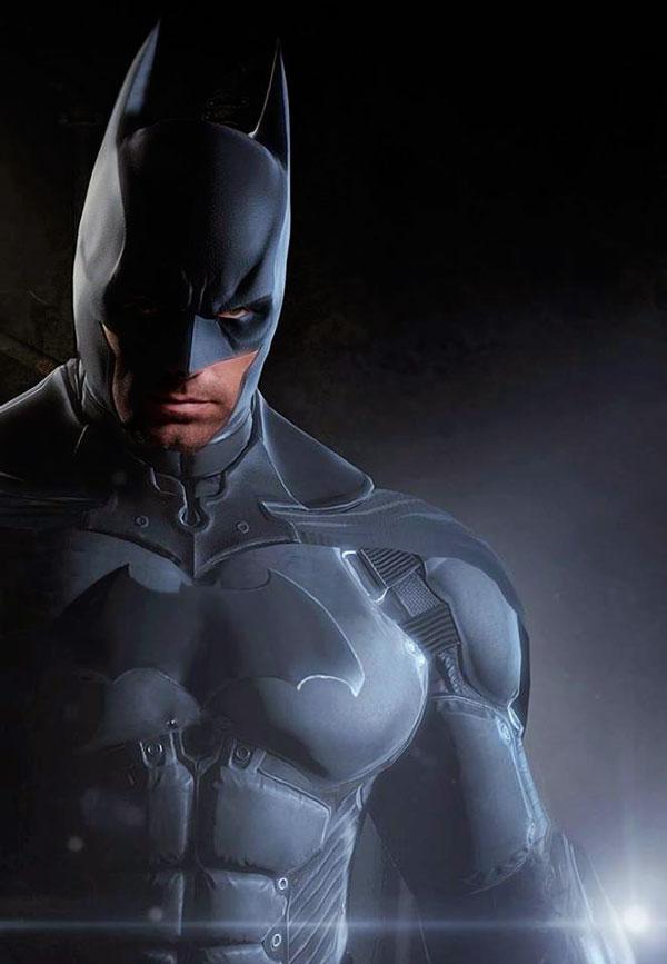 Ben Afleck caracterizado como Batman en un Fan art