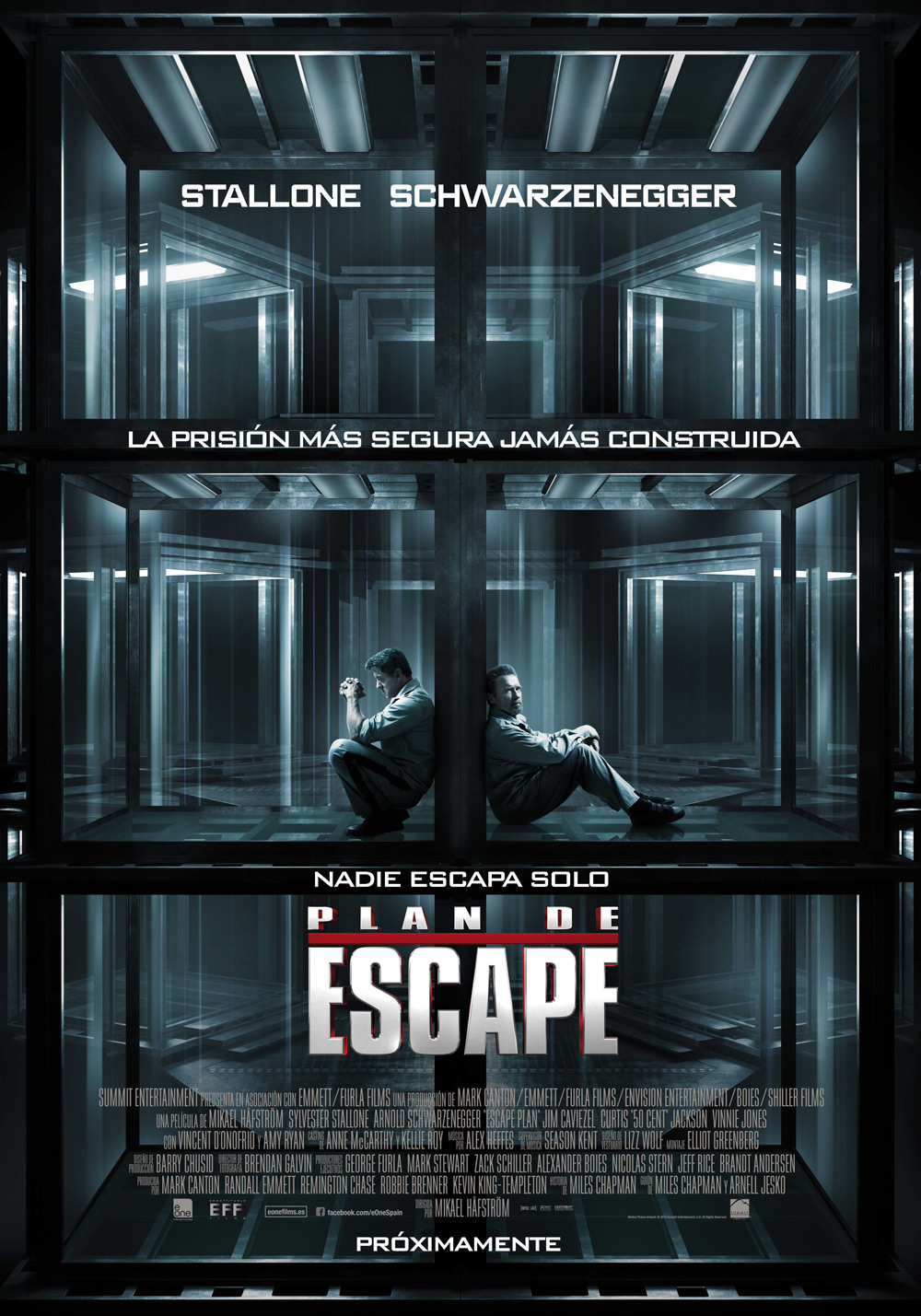"Cartel español de ""Plan de Escape"" (The tomb)"