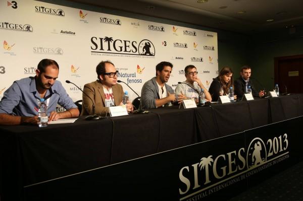 Eli Roth y Nicolás López en Sitges