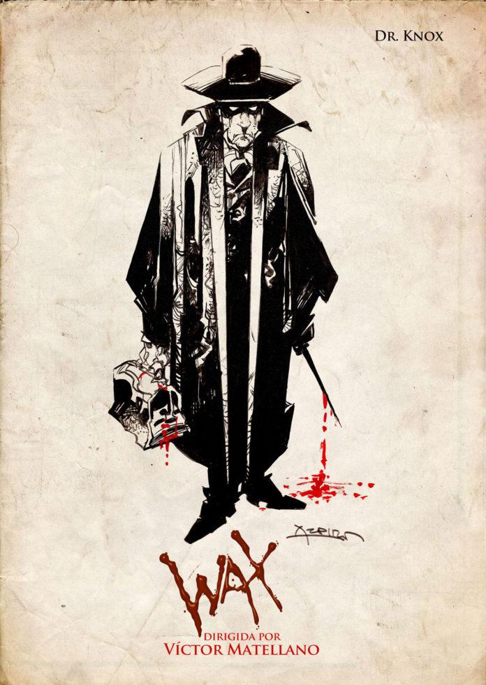 Alfonso Azpiri dibuja al personaje de Jack Taylor en Wax