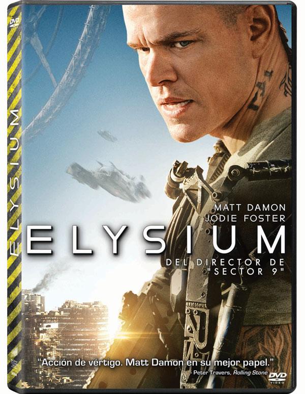Elysium. Carátula DVD