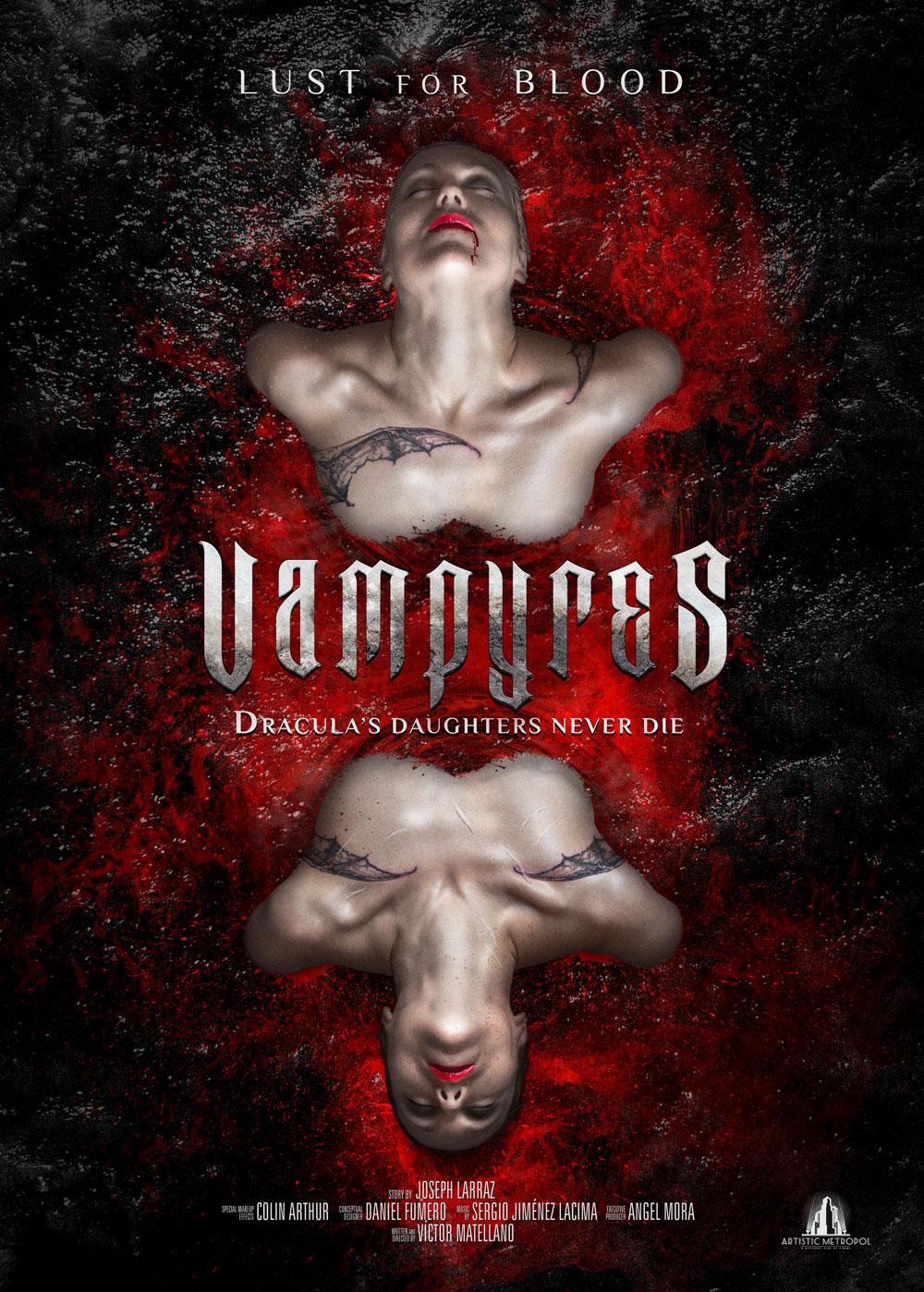 """VAMPYRES. Teaser poster del remake de """"Las Hijas de Drácula""""."""