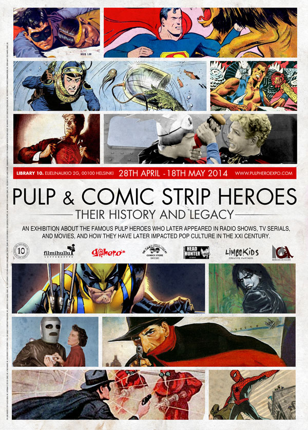 Pulp & Comic Strip Heroes Expo