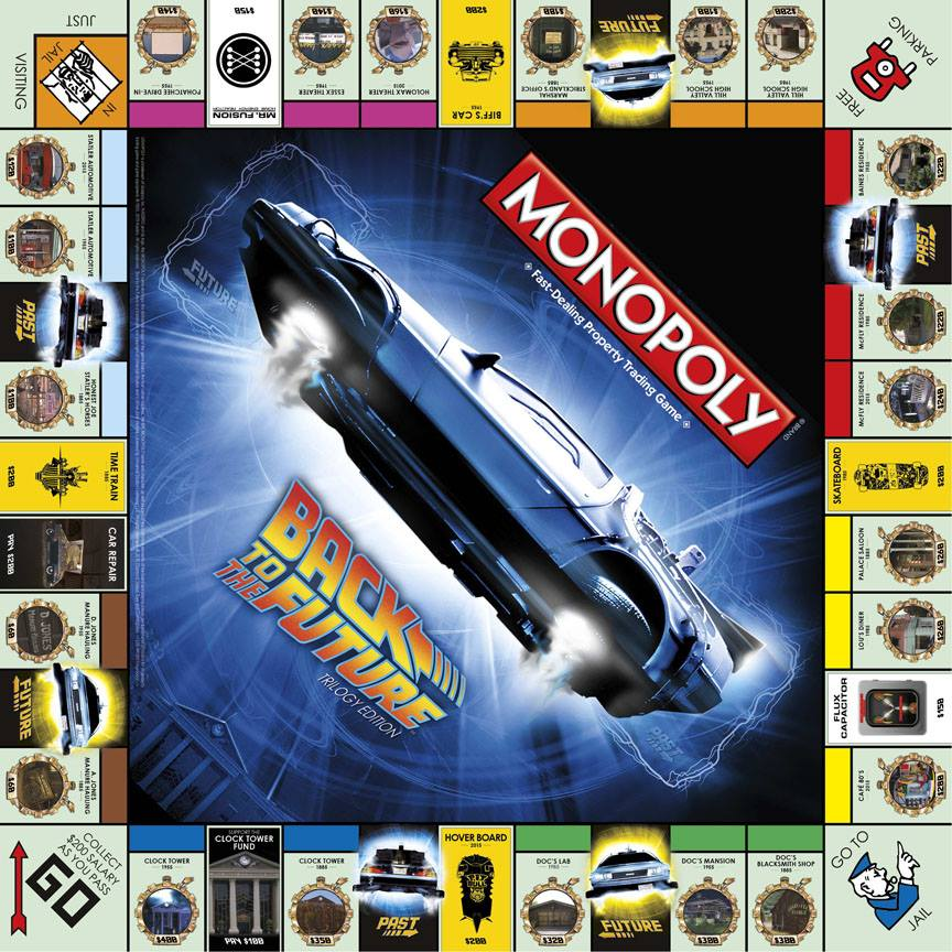Monopoly Regreso al Futuro. Diamond Select Toys