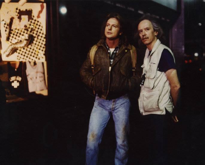 Roddy Piper y John Carpenter en el rodaje de