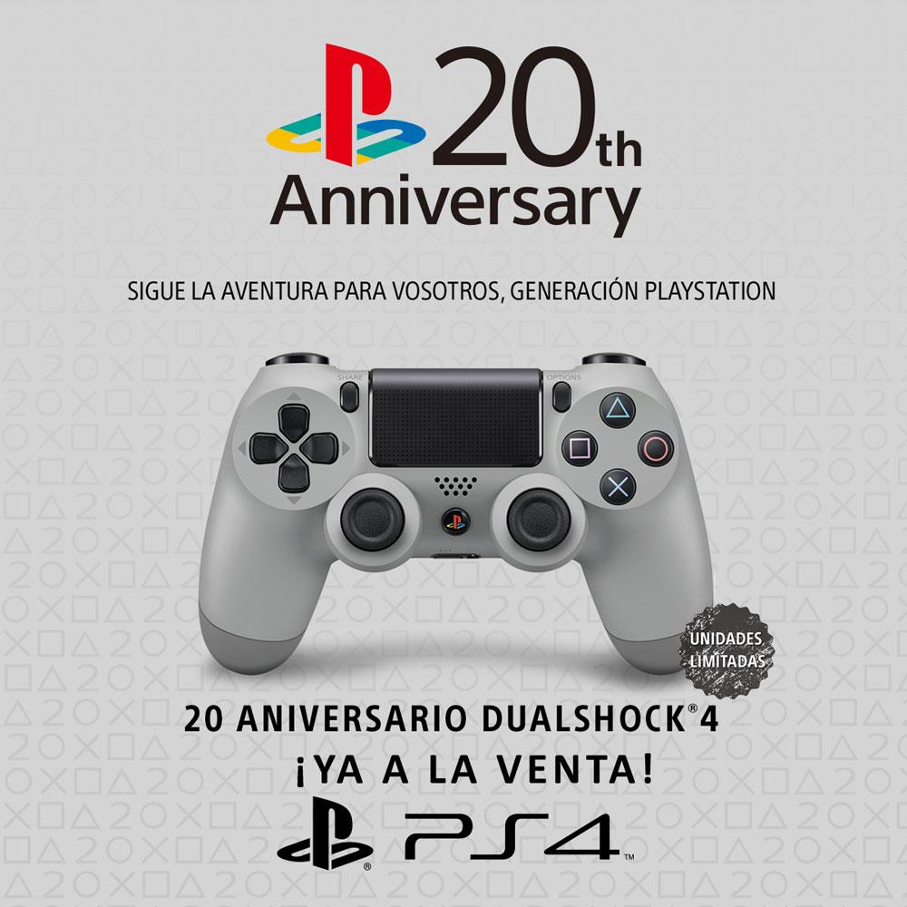 DUALSHOCK 4 Edición Especial 20 Aniversario de PlayStation