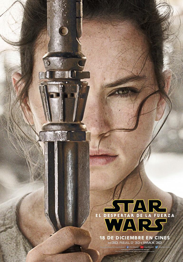 Star Wars: El despertar de la fuerza Rey poster