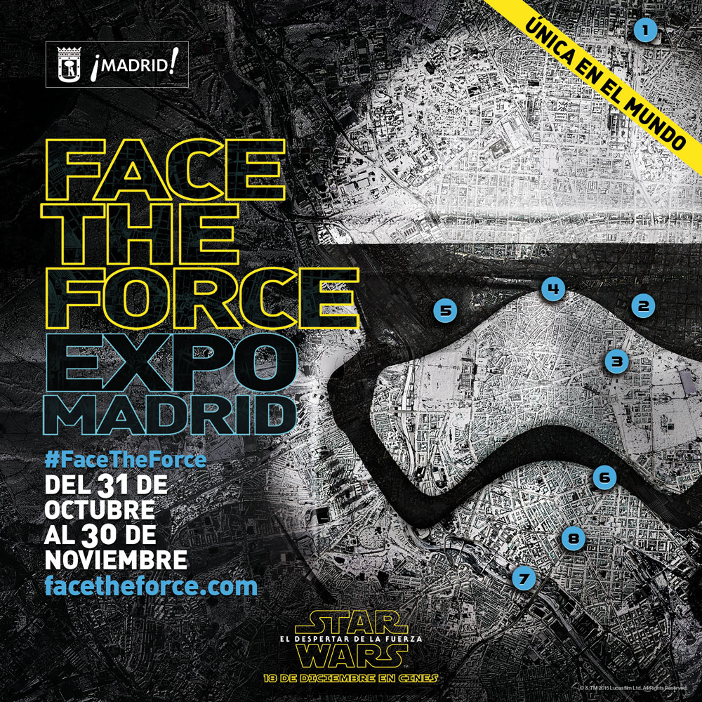Face the Force. Poster Madrid