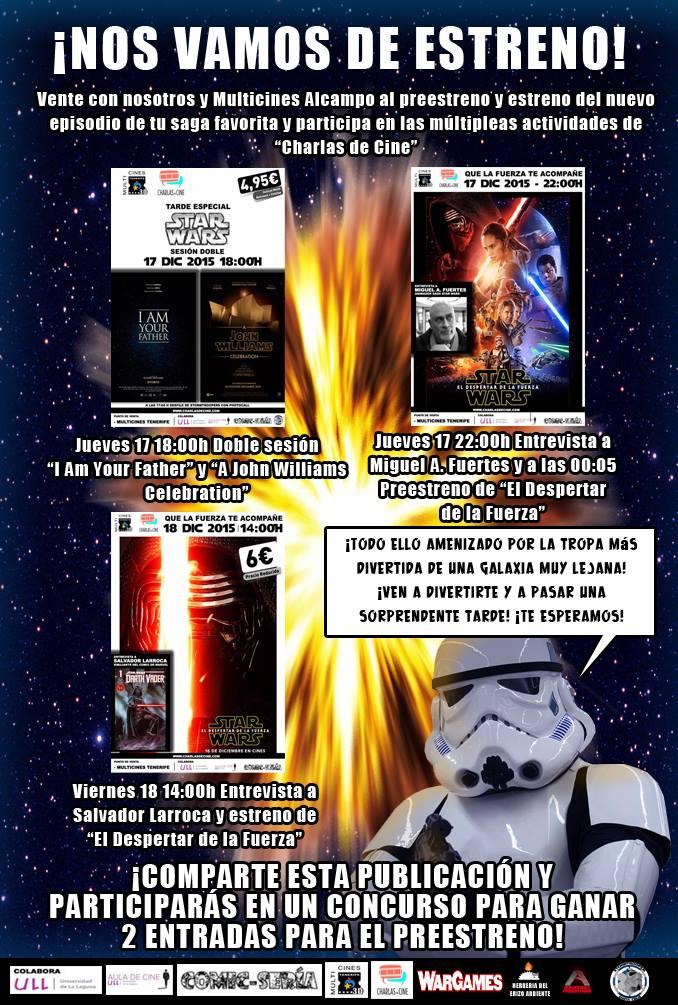 Charlas de cine. Star wars El depertar de la fuerza