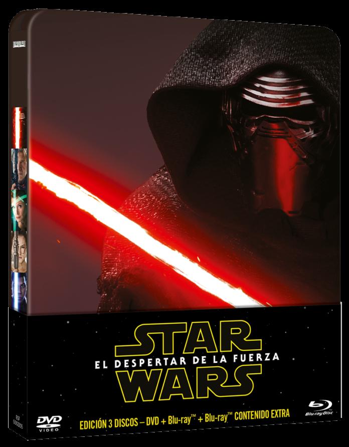 Star Wars: El despertar de la fuerza en DVD edición Metálica