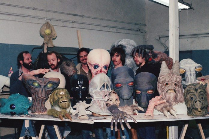 Rick Baker y el equipo de la cantina de La Guerra de las Galaxias