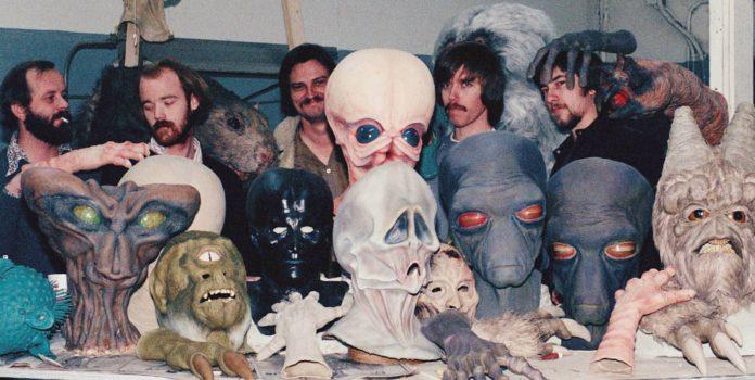 Baker y el equipo de caracterizadores de la segunda unidad en Star Wars
