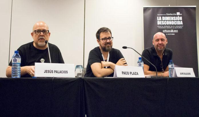 Jesús Palacios, Paco Plaza y Jaume Balagueró.
