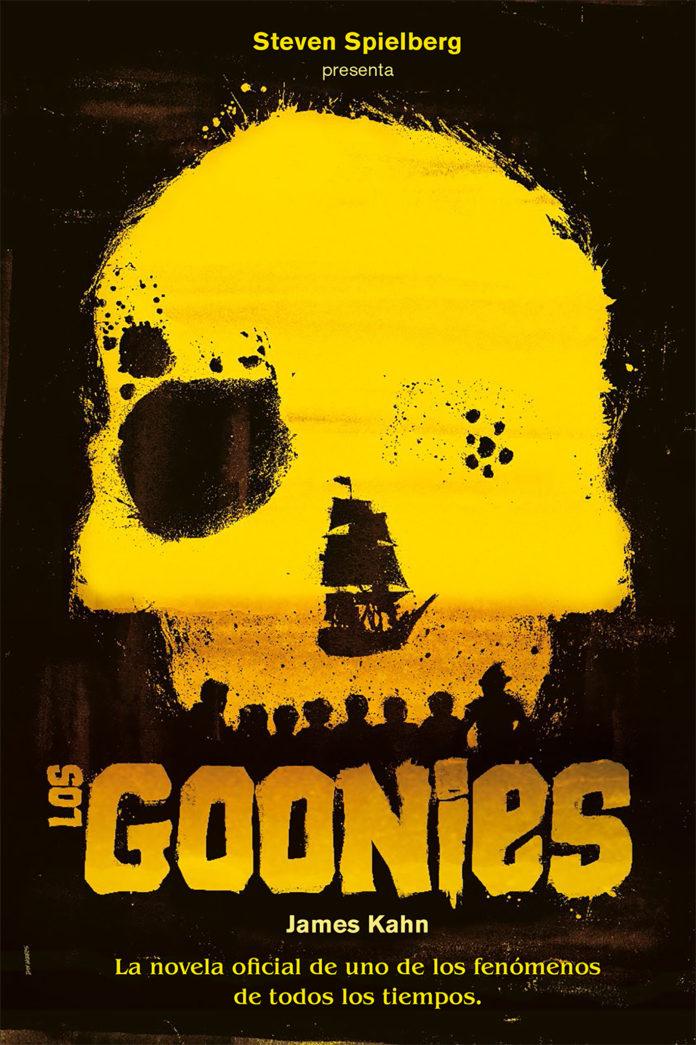 Portada de la novela oficial de Los Goonies.