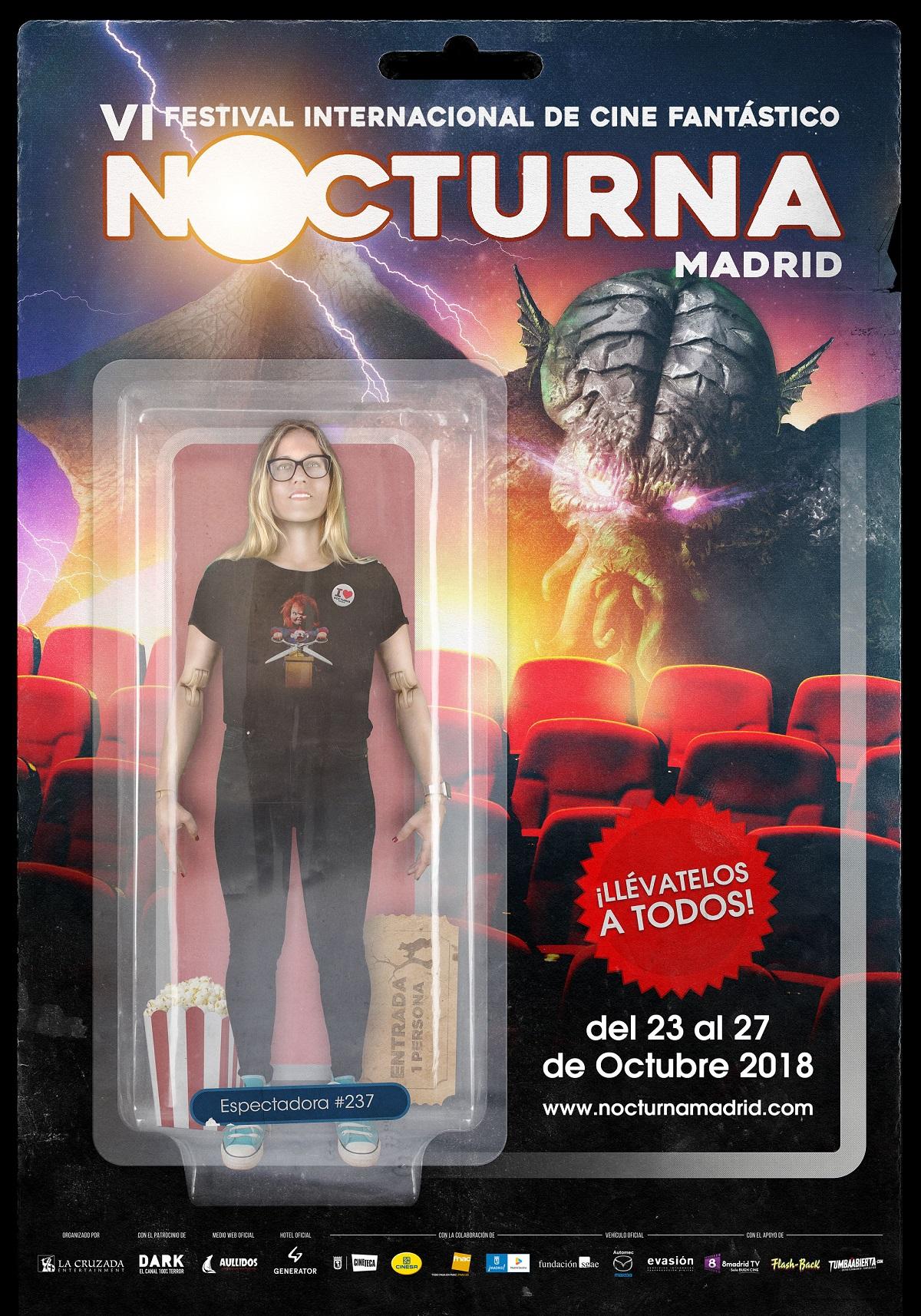 Cartel de Nocturna Madrid 2018, obra de Daniel Fumero.