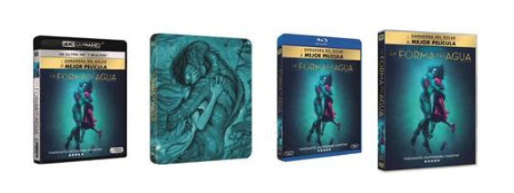 La forma del agua, ya disponible en DVD y Blu-Ray.
