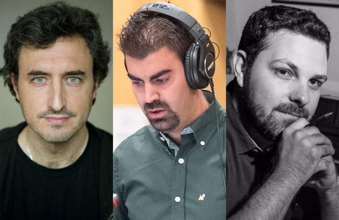 Zacarías M. de la Riva, Carlos M. Jara y Óscar Martín.