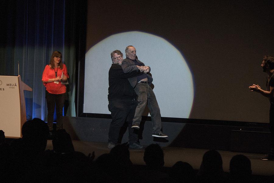 Guillermo del Toro y Darío Argento Sitges 2017. Fotografía de Daniel Fumero