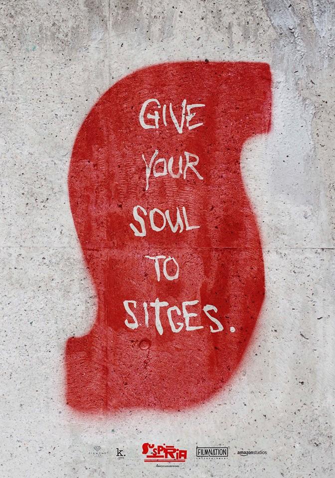 Adaptación del cartel de 'Suspiria' con motivo del anuncio de que la película abrirá el Festival de Sitges.