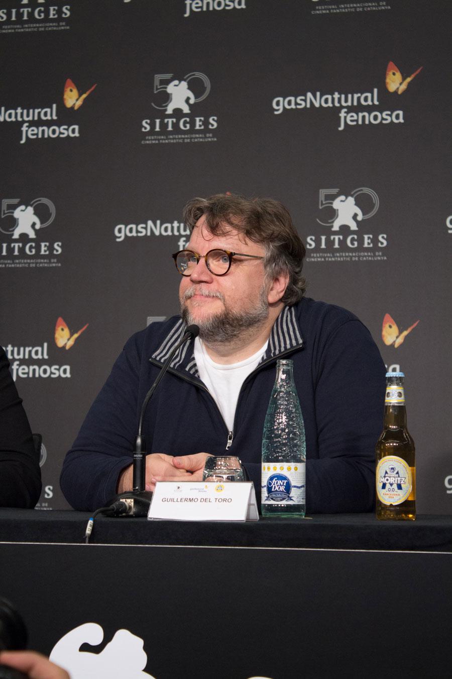 Guillermo del Toro, en rueda de prensa en el Festival de Sitges. | Foto: Daniel Fumero