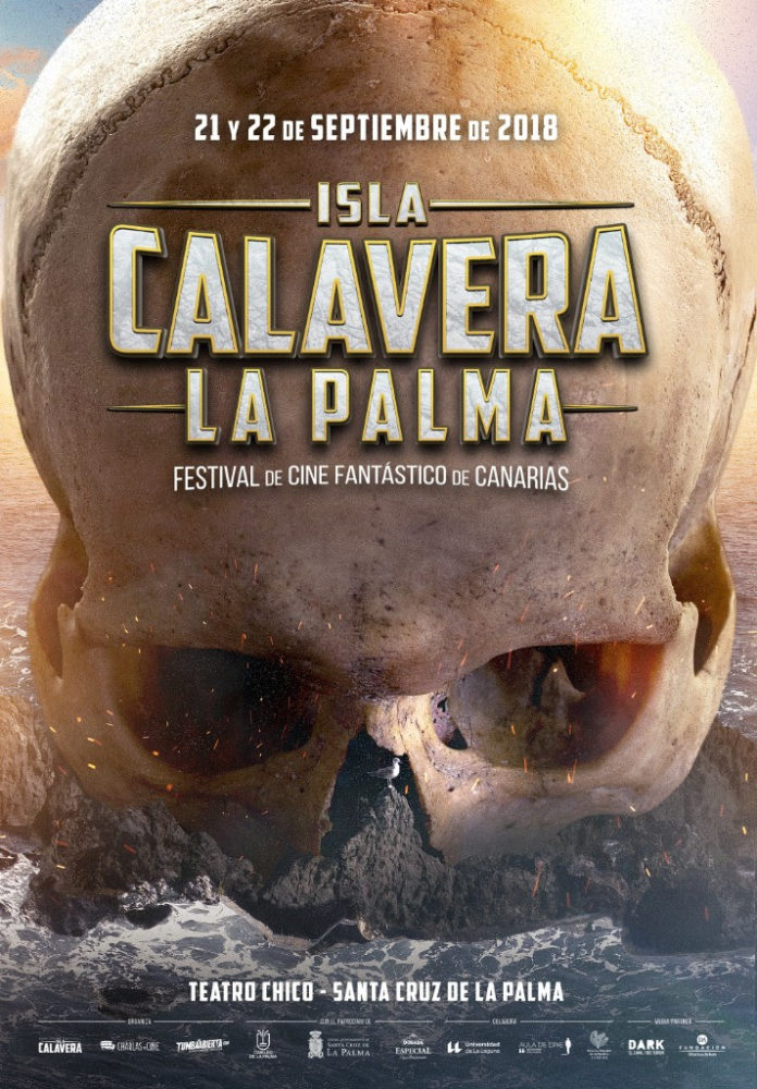 Cartel de la edición especial La Palma del Festival Isla Calavera, obra de Daniel Fumero.