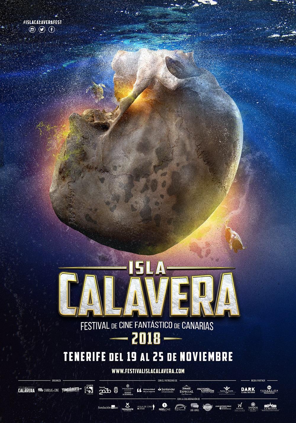 Cartel del II Festival de Cine Fantástico de Canarias - Isla Calavera.