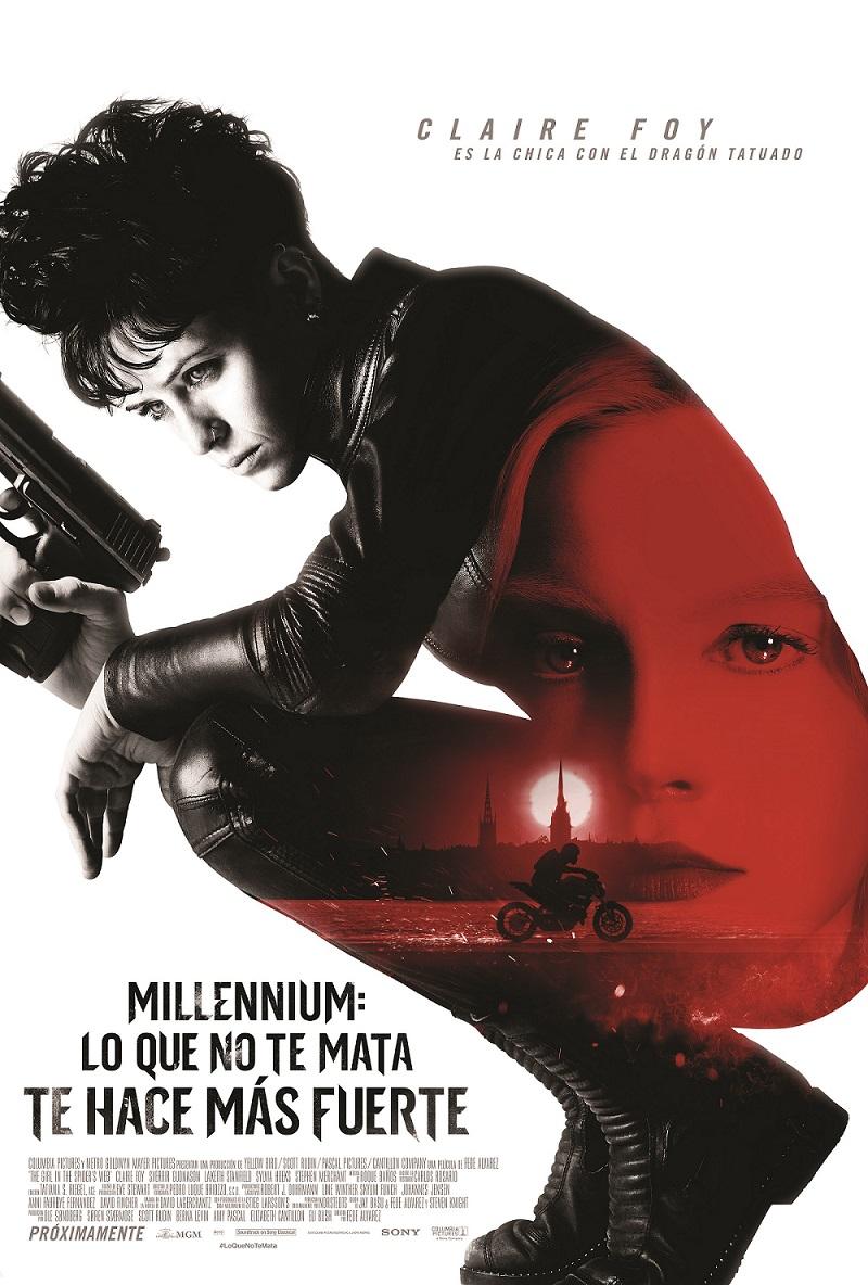 Póster de 'Millennium: Lo que no te mata te hace más fuerte'. | Sony Pictures