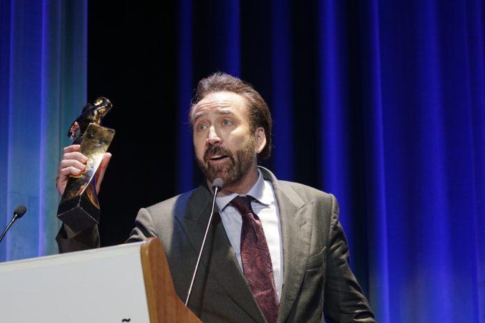 Nicolas Cage recoge en Sitges el Gran Premio Honorífico del Festival.